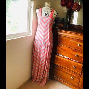 LC Lauren Conrad Sleeveless Orange/Grey Dres